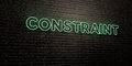 CONSTRAINT -Realistic Neon Sign on Brick Wall background - 3D rendered royalty free stock image Royalty Free Stock Photo