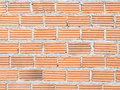 Construct red brick wall background Stock Photos