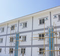 Construct site new houses in thailand Royalty Free Stock Images