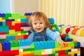 Constructing with toy blocks is fun Royalty Free Stock Photo