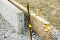 Construction area and concrete curbs and boards Royalty Free Stock Photography