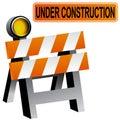 Construction Barricade Stock Photos