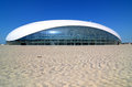 Construction of bolshoy ice dome in sochi olympic park russia june on june russia for winter games Royalty Free Stock Photos