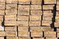 Construction bricks background stack Stock Image