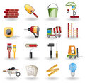 Construction and Building Icon Set. Royalty Free Stock Photo