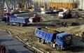 Construction of building in sofia bulgaria Stock Photo