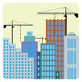 Construction of buildings. Stock Images