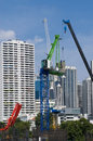 Construction and buildings in a big city Stock Photos