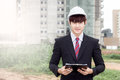 Construction business man Royalty Free Stock Photo