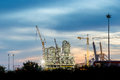 Construction of chemical plant industry Royalty Free Stock Photo