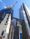 Construction in the City of London Royalty Free Stock Photo