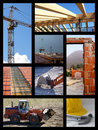 Construction collage Royalty Free Stock Photo