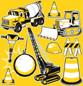 Construction collection a of contruction themed clip art Stock Images