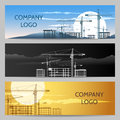 Construction Company with Building Area Banner set