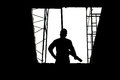 Construction concepts, Silhouette of Engineer and Architect working at Construction Site Royalty Free Stock Photo