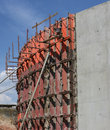 Construction concrete wall industries building Stock Images