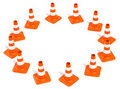 Construction Cones Ring Royalty Free Stock Photo