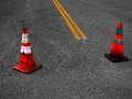 Construction Cones and Street Repair Royalty Free Stock Photo