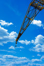 Construction crane at blue sky Royalty Free Stock Photography