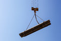 Construction crane to carry loads building site Royalty Free Stock Images