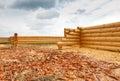 Construction d une maison des rondins en bois Photos libres de droits