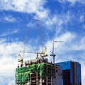 Construction in the daytime the background is sky with clouds Royalty Free Stock Photography