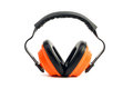Construction ear protection earmuff white background Stock Images