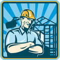 Construction Engineer Foreman Worker Royalty Free Stock Images