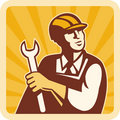 Construction engineer mechanic Royalty Free Stock Photos