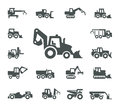 Construction equipment authors illustration in vector Royalty Free Stock Photo