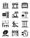 Construction equipment and materials vector illustration Stock Image