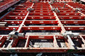 Construction formwork building reinforcement equipment at building site Stock Images