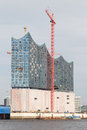 Construction hambourg d elbphilharmonie Photos libres de droits