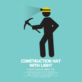 Construction Hat With Light Symbol