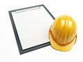 Construction helmet form on a white background Royalty Free Stock Image
