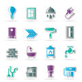 Construction home renovation icons vector icon set Royalty Free Stock Image
