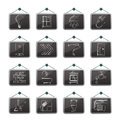 Construction home renovation icons vector icon set Royalty Free Stock Photography