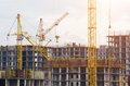 Construction Of Houses Cranes,...