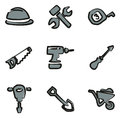 Construction Icons Freehand 2 Color