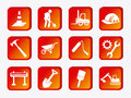 Construction icons over white background vector illustration Stock Photography