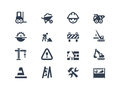 Construction icons set of and renovation Stock Photography