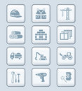 Construction icons | TECH series Royalty Free Stock Photo