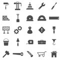 Construction icons on white background stock vector Stock Photo