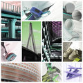 Construction industry - collage Royalty Free Stock Photo