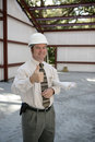 Construction Inspector - Thumbs Up Stock Image