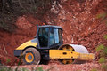 Construction machinery in a quarry Stock Photo