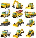 Construction machines set of a Stock Photo