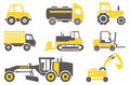 Construction machines set for you design Stock Photos