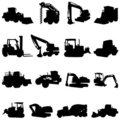 Construction machines vector Royalty Free Stock Images