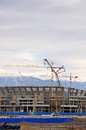 Construction of the main stadium in the Olympic Pa Royalty Free Stock Photos